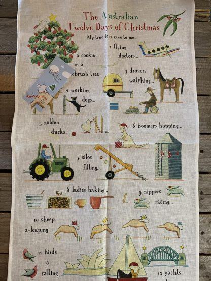 The Australian 12 Days of Christmas tea towel