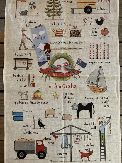 Christmas in Australia tea towel