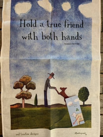 """""""Hold a true friend with both hands"""""""